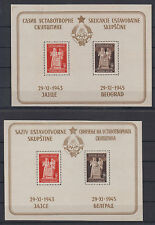 Yugoslavia constitution Cyrillic and Latin letters 2 mini sheets 1945 MNH **