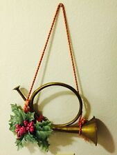 Old Vintage Brass Horn French Fox Hound Hunting Bugle Instrument Wall Decor