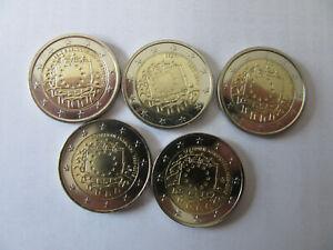 """Komplettset 23 x 2-Euro-Gedenkmünzen 2015 """"Flagge"""" Gemeinschaftsausgabe, unz."""