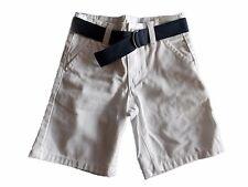 NWT Boy's Gymboree Egg Hunt white adjustable shorts with blue belt ~ 6 FREE SHIP