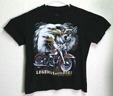 Roman Tiriam Mens Black Legends Never Die Graphic T-Shirt Large EUC