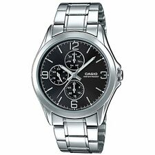 Casio MTP-V301D-1 New Original Analog Mens Watch Silver Stainless Steel MTP-V301