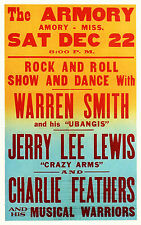 """Jerry Lee Lewis Armory 16"""" x 12"""" Photo Repro Concert Poster"""