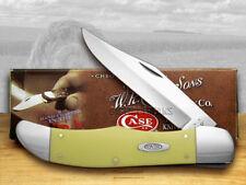 CASE XX Smooth Yellow Delrin CV Folding Hunter Pocket Knives Knife