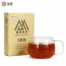 Hunan Anhua Golden Flower Dark Brick Tea Fu Zhuan Dark Tea 380g