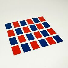 Tri-ang Arkitex Spot On Parts   1/42 scale   24 x Blue / Red Metal Window Panels