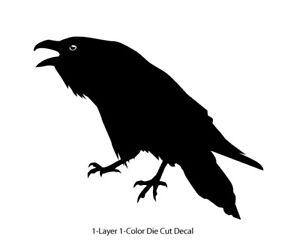 Wildlife / Birds - Raven Crow 4 Cawing/Croaking Decal 6Yrs Outdoor Vinyl Sticker