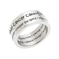 Stainless Steel What Cancer Cannot Do Ring, Cancer Awareness Ring, Breast Cancer