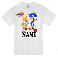 Sonic The Hedgehog Personalised Kids T shirts/Top  Age 1-13 yrs  Boys/Girls
