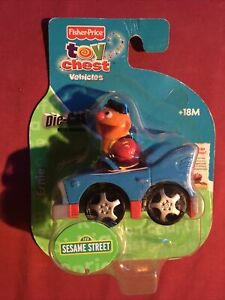 Ernie Die Cast Metal Plastic Vehicle Fisher Price Toy Chest Sesame Street Car