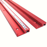 Aluminum Alloy T-slot Miter Track Jig Fixture Tool Woodworking Stable Tool 400MM