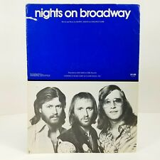 1975 The Bee Gees Nights On Broadway Sheet Music Pop Dance Piano Vocals Guitar