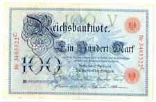 Germany Empire Imperial Bank Note Reichsbanknote 100 Mark 1903 VF #20