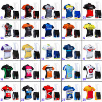 2021 Men's Team Cycling Bike Jersey Cycling Bibs Shorts Brace Pants Kits Set Pad