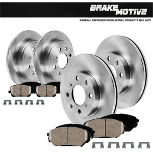 For Accent Elantra Rio Front And Rear Premium OE Brake Rotors & Ceramic Pads