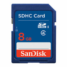 SanDisk 8GB SD Card SDHC MEMORY CARD Class 4 8 GB For Digital Cameras Blue