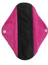 Cloth Menstrual Pads Bamboo Charcol Reusable Sanitary Pad Pink Minky MEDIUM
