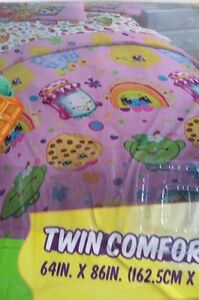 Shopkins Twin Comforter in Pink 64 x 80 inches girls other listings for sheets