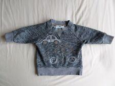 Next Boys Girls Unisex Grey Long Sleeve Jumper Size 6-9 Months