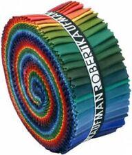 "Kaufman Fabric Kona Cotton Solid Dark Palette Jelly Roll Up 2.5"" Strips 41 pcs"