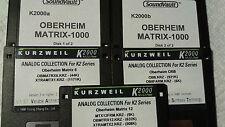 KURZWEIL ~ OBVIOUSLY OBERHEIM ~ 5 Disk Set ~ K2000/K2500 w/VAST PROGRAMMINGS!!!