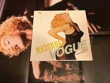 "Madonna Vogue 12""  Germany ORIG 1990 w/Rare X rated Poster Record VINYL"