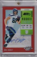 Will Dissly 2018 Contenders Optic Orange Rookie Ticket Rc Auto #ed 19/49
