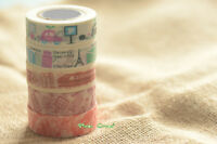 15mmx5m Famous Architecture Silhouette City Washi tape Car Train Travel Triangle