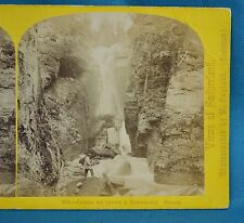 1860s Suisse Stereoview 109 Gorge Et Chute A Rosenlaui Alpine Club  W England