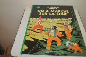 Book Comics Adventures Tintin - They Walking On La Lune - Casterman Herge