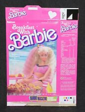 Barbie Cereal Ralston Breakfast With Barbie Box 1989 Magazine Offer