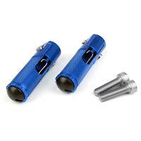 CNC Folding Foot Pegs Footpeg Rear Set Rest Racing For Universal Motor Blue T5