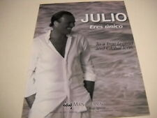JULIO IGLESIAS ...a True Legend and Global Icon 2015 music biz PROMO POSTER AD