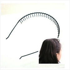 Cool Mens Metal Toothed Sports Football Soccer Hair Headband Alice Hoop Band