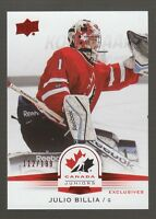 (56549) 2014-15 UPPER DECK TEAM CANADA JUNIORS RED JULIO BILLIA #24 (112/199)