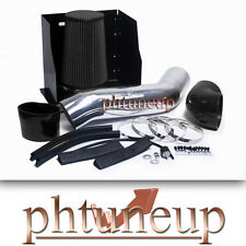 BLACK 2003 2004-2007 HUMMER H2 6.0 6.0L ENGINE HEATSHIELD COLD AIR INTAKE KIT