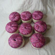 Rowan Damask Linen Blend Yarn 50g 115yd Color #46 Pink Purple Lot of 8