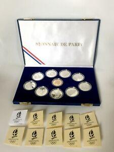 Coffret ALBERTVILLE Jeux Olympiques 1992 Monnaie de Paris 100F argent et 500F or