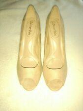 Dream Paris Tan  8.5 Peep Toe Heel 3 Inch Heel.