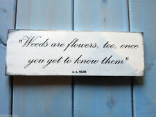 Flowers Hand Painted Decorative Plaques & Signs