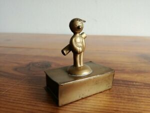 RARE ART DECO match box holder, Golf Caddy Boy ??