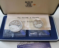 1974 ROYAL MINT SEYCHELLES SILVER PROOF TURTLES 2 COIN SET 10 & 5 RUPEES SET