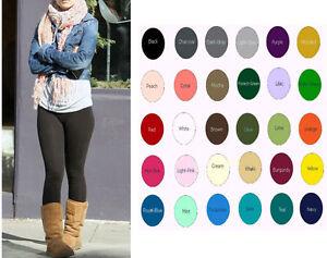 Women Premium Cotton Spandex Ankle Length Yoga Leggings Slim Pants S-5XL USA