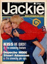 Jackie Magazine 26 October 1985 Issue 1138      Depeche Mode      Stuart Adamson
