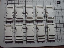 """PLASTICA BIANCA Side Release FIBBIE PER CINGHIA BAGS cinghie Clip 15mm x10pcs """"P"""""""