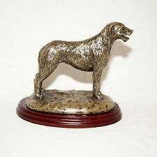 IRISH WOLFHOUND  Bronze Figurine. Hand made in England. Ideal gift.