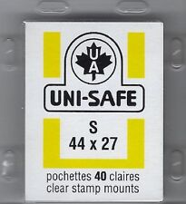 "Prinz Uni-Safe ""S"" Top Opening #44x27  Stamp Mounts (Made in Germany) 40 Clear"