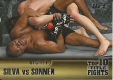 Anderson Silva Chael Sonnen 2011 Topps UFC Title Shot Top 10 Title Fights # TT4