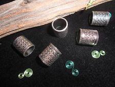 Dreadlock Beads 11mm Hole Antique Silver Celtic Weave Design Tubes for XL Dreads