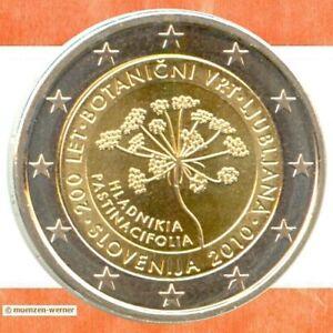 Sondermünzen Slowenien: 2 Euro Münze 2010 Botanischer Garten zwei € Sondermünze
